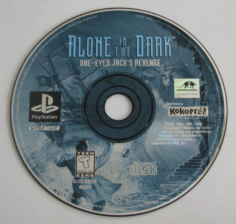 Sony Playstation 1 Game Alone In The Dark One Eyed Jack S Revenge